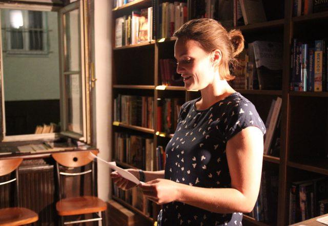 gabrielle clover reading her poem