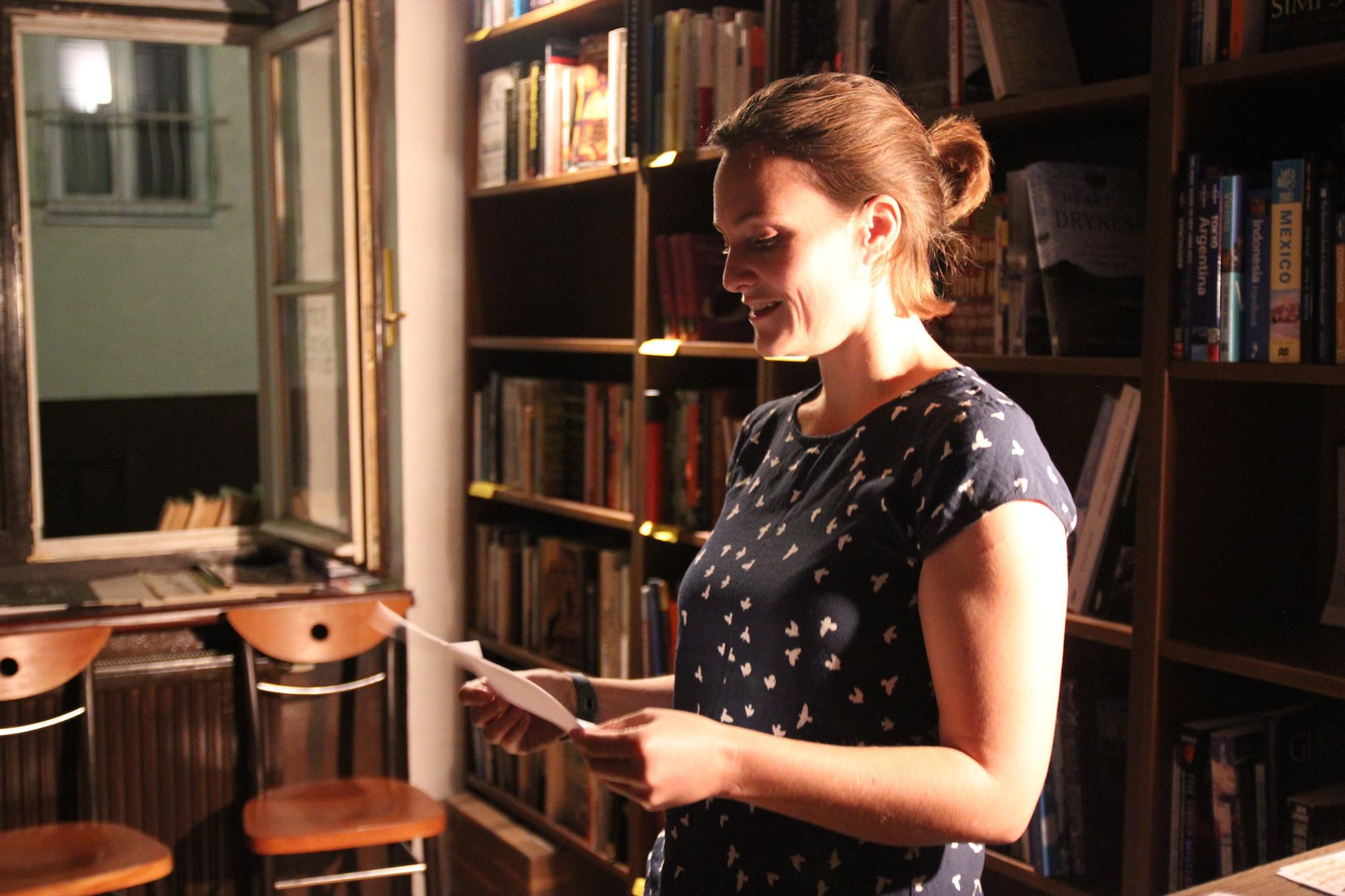 gabrielle clover reading her poem